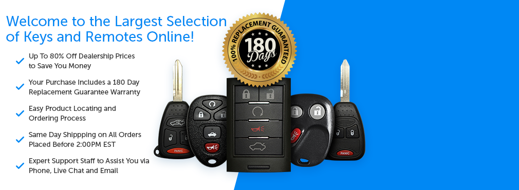 Replacement of Keyless Remotes and Key Fobs