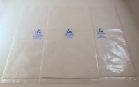 Dc1200p virgin polyethylene hot stamped printed cleanroom class 100 class 5 bags 1351254379
