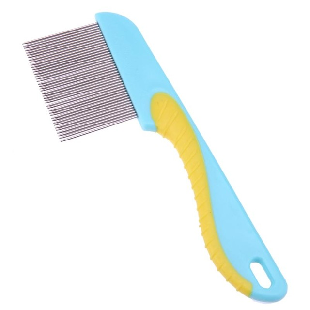 Dog comb for dogs cats hair removal single row straight comb puppy hair grooming tool stainless jpg 640x640
