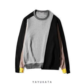 Yayukata sweaters gray m ps6 color block streetwear sweater 13674013065310 274x
