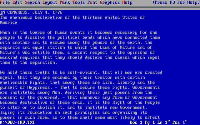 Wordperfect 5.1 dos